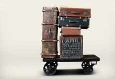 Turistas del equipaje Foto de archivo libre de regalías