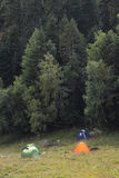 Turistas do acampamento Imagem de Stock