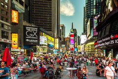Turistas do Times Square Foto de Stock Royalty Free