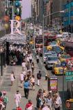 Turistas do Times Square Fotografia de Stock Royalty Free