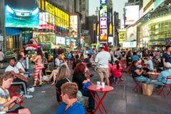 Turistas do Times Square Fotografia de Stock