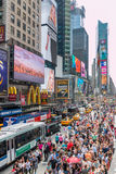 Turistas do Times Square Imagem de Stock