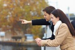 Turistas em fazer da ponte Imagem de Stock