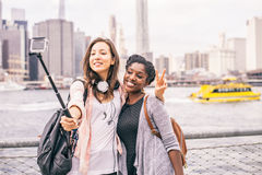 Turistas em New York foto de stock royalty free