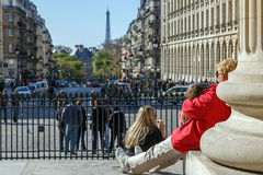 Turistas em Paris Fotografia de Stock Royalty Free