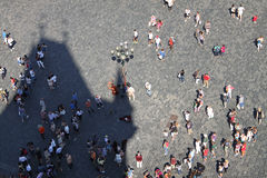 Turistas em Praga Fotos de Stock Royalty Free