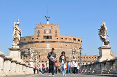 Turistas em Roma foto de stock royalty free