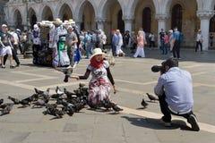 Turistas em Veneza fotos de stock royalty free