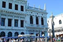 Turistas em Veneza, Itália fotografia de stock