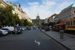Turistas em Wenceslas Square Imagens de Stock