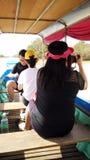 Turistas en Camboya Imágenes de archivo libres de regalías