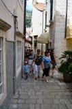 Turistas en Dubrovnik Imagenes de archivo