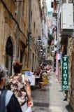 Turistas en Dubrovnik, Croacia Fotos de archivo libres de regalías