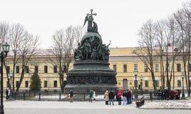 Turistas en el monumento Fotografía de archivo