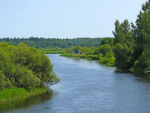 Turistas en el río de Berezina Fotos de archivo libres de regalías