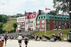 Turistas en el Terrasse Dufferin Fotos de archivo libres de regalías