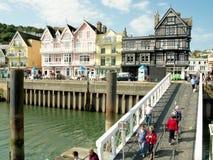 Turistas en el transbordador de Dartmouth. Fotografía de archivo libre de regalías