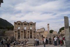 Turistas en ephesus Imagen de archivo