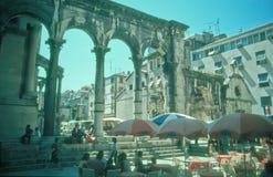 Turistas en fractura, Croacia Fotografía de archivo libre de regalías