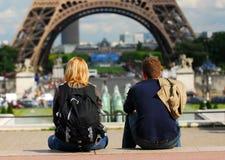 Turistas en Francia Fotos de archivo libres de regalías