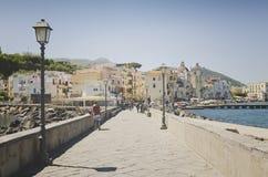 Turistas en isquiones en el golfo de NApoli, Italia Fotos de archivo libres de regalías