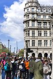 Turistas en la ciudad de Londres fotografía de archivo libre de regalías
