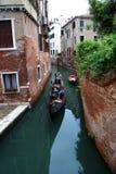 Turistas en la góndola fotografía de archivo libre de regalías