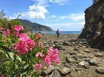 Turistas en la manera de Lycian imagen de archivo libre de regalías