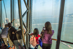 Turistas en la torre de Macao