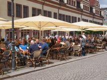Turistas en Leipzig Alemania Foto de archivo libre de regalías