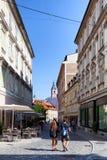 Turistas en Ljubljana Imágenes de archivo libres de regalías