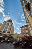 Turistas en los restaurantes Graz Foto de archivo libre de regalías