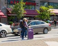 Turistas en Montreal Imagen de archivo libre de regalías