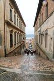 Turistas en Portoferraio, Italia imagen de archivo