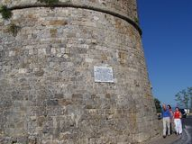 Turistas en San Gimignano Foto de archivo