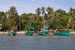 Turistas en un barco Foto de archivo libre de regalías