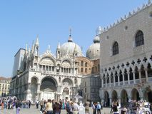 turistas en Venecia Fotos de archivo