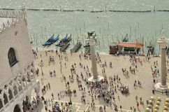 Turistas en Venecia Imagen de archivo