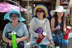 Turistas femeninos Imagen de archivo
