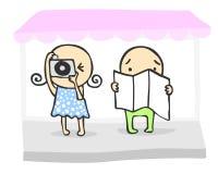 Turistas lindos libre illustration