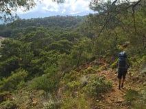 Turistas na maneira de Lycian imagens de stock