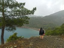 Turistas na maneira de Lycian imagem de stock royalty free
