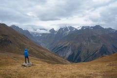 Turistas nas montanhas Foto de Stock Royalty Free