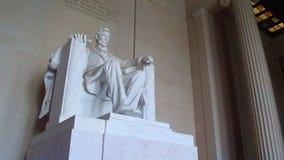 Turistas no memorial de Lincoln video estoque