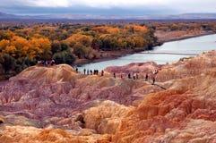 Turistas no parque da baía do arco-íris Imagens de Stock