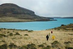 Turistas no Patagonia Imagens de Stock