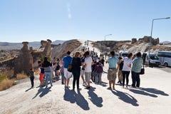Turistas photoing Imagen de archivo libre de regalías