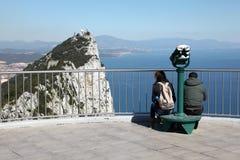 Parte superior da rocha em Gibraltar foto de stock royalty free
