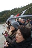 Turistas que tomam imagens Fotografia de Stock Royalty Free