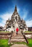 Turisten i fördärvar av Thailand Royaltyfri Foto